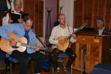 Musikerne i aksjon