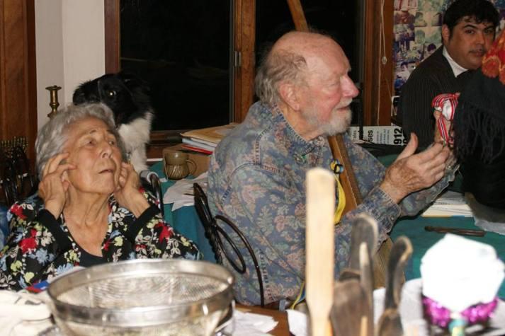 Vi besøkte Pete Seeger i hans hjem.